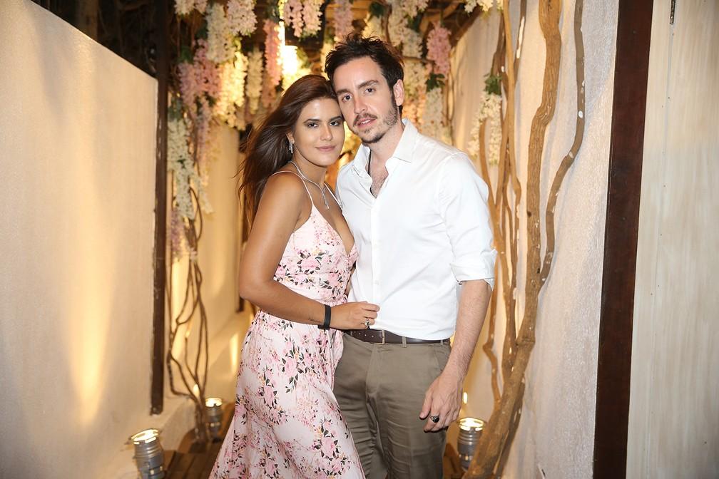Antônia Morais e Wagner Santisteban, casamento Camila Queiroz e Klebber Toledo (Foto: Manuela Scarpa e Iwi Onodera/Brazil News)