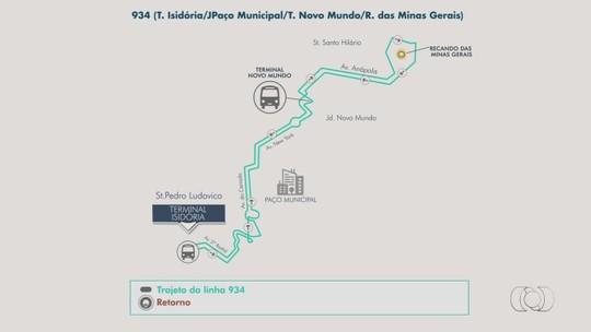 Nova linha de ônibus começa operar entre o Terminal Isidória e o Setor Recanto das Minas Gerais, em Goiânia