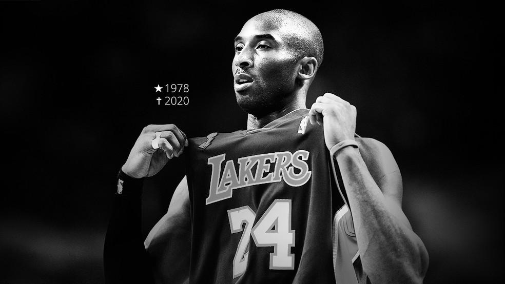 Kobe Bryant morreu neste domingo — Foto: Arte Esporte