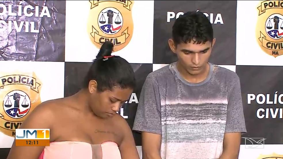 Gilcilene Nascimento e Eduardo de Castro foram presos pela Polícia Civil. — Foto: Reprodução/TV Mirante