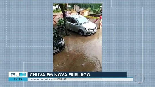 Chuva intensa atinge Nova Friburgo