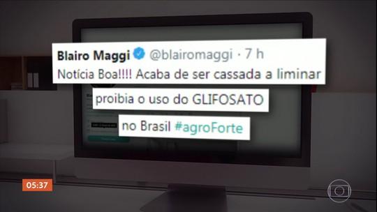 Maggi comemora a liberação do glifosato na web e provoca confusão entre produtores rurais
