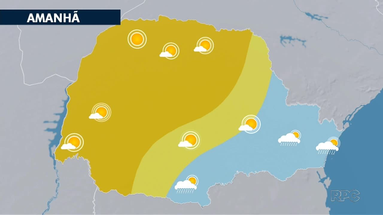 Domingo de instabilidade no leste e calor em boa parte de Paraná