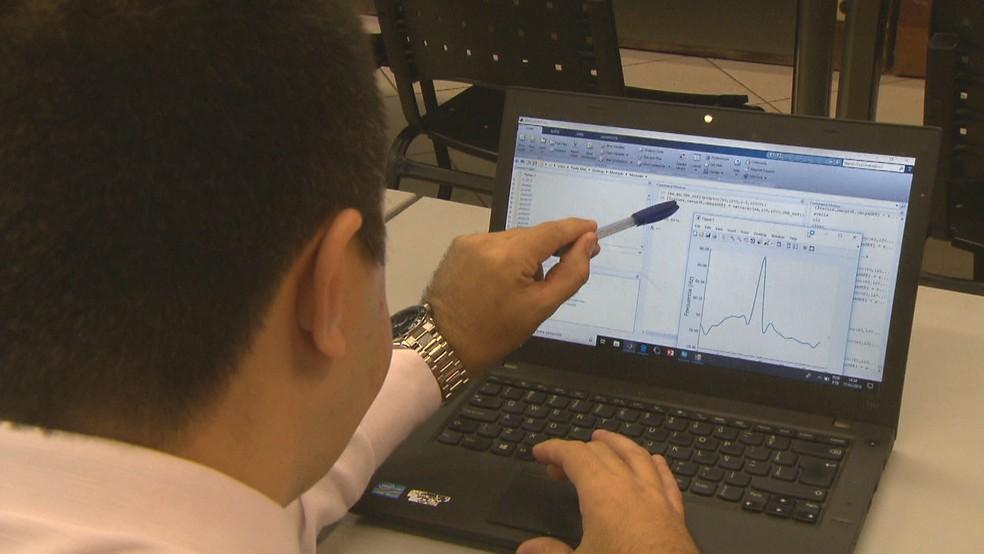 Pesquisadores da UnB desenvolveram técnica capaz de mapear edições e fraudes em gravações de áudio — Foto: TV Globo/ Reprodução