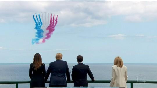 Líderes mundiais se reúnem na França para celebrar o Dia D