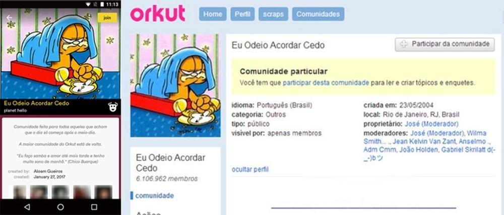 Uma das páginas mais famosas do Orkut (Foto: Reprodução)