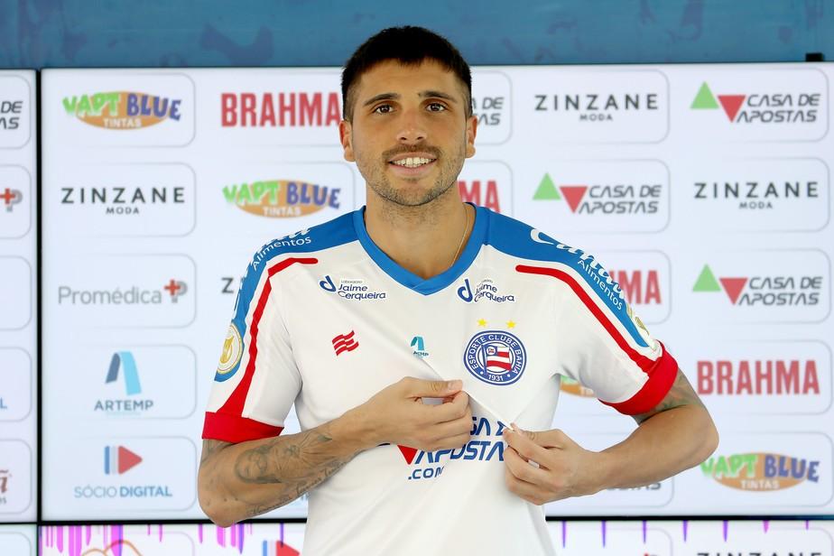 """""""Jogador mais completo"""", Mugni enaltece o Bahia e fala sobre acerto: """"Decidi rapidamente"""""""