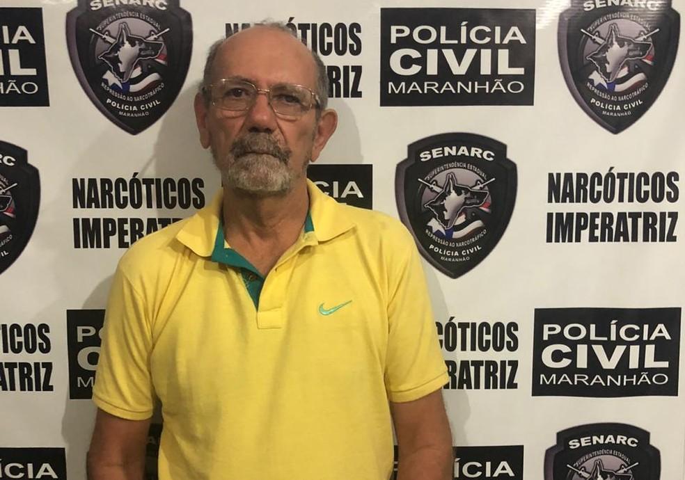 Suspeito Caetano Amancio Pereira foi preso ao entrar em residência com aproximadamente 213 quilos de droga em Imperatriz — Foto: Divulgação/Polícia Civil