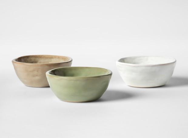 Os bowls da coleção são simples e charmosos (Foto: Target)