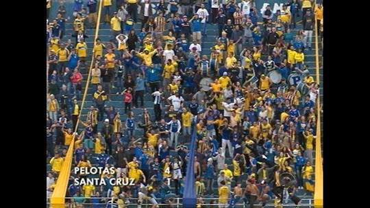 Divisão de Acesso: Pelotas goleia Santa Cruz e mantém ponta; veja os gols
