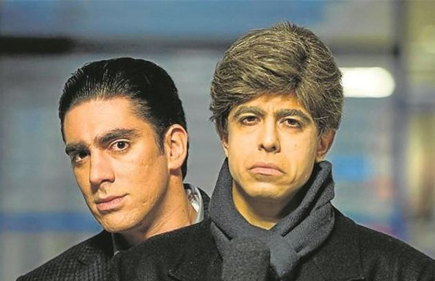 Marcelo Adnet e Marcius Melhem em cena de 'Tá no ar', que vai estrear na Globo: 'Tenho certeza de que vai me fazer rir muito. O elenco é impecável', aposta Gregório (Foto: Estevam Avellar/TV Globo)