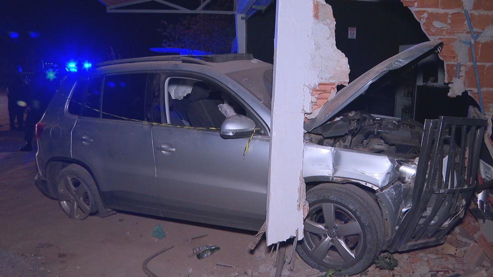 Motorista alcoolizado atropela família em pizzaria no DF — Foto: TV Globo / Reprodução