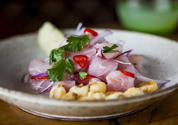Ceviche clássico de peixe branco (Foto: Divulgação)