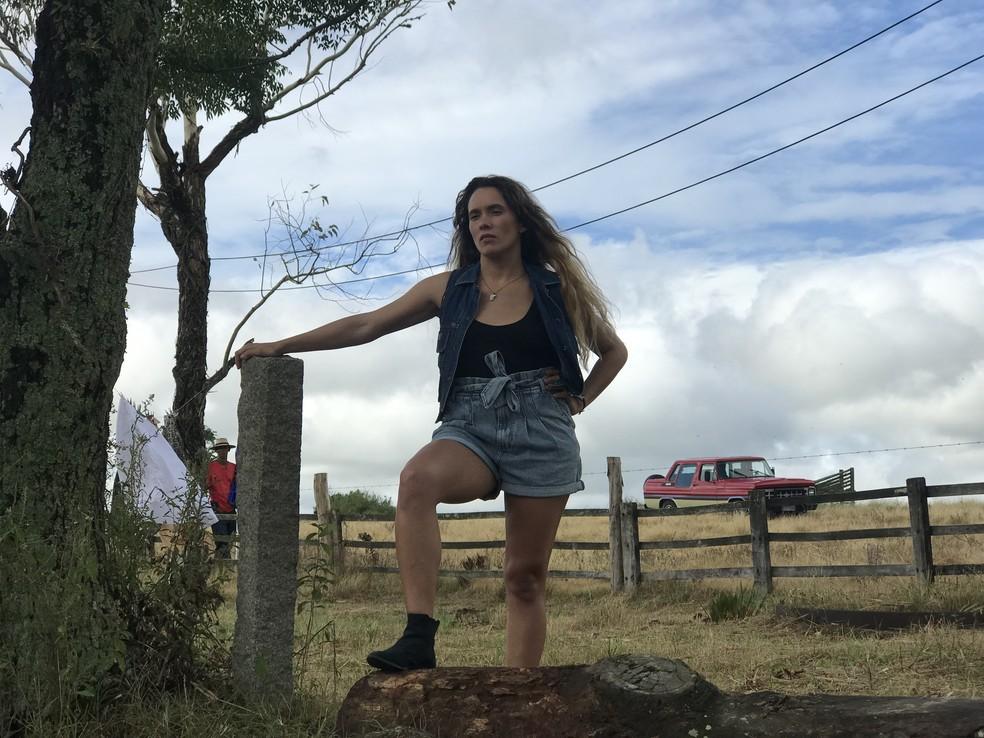 Em 'A Dona do Pedaço', Áurea Maranhão vive Ticiana, irmã de Amadeu (Marcos Palmeira) — Foto: Verônica Ruiz