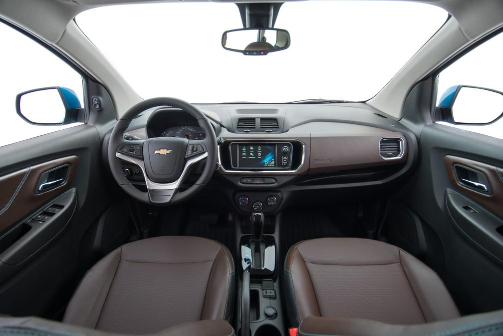 Interior da Chevrolet Spin 2019 — Foto: Divulgação