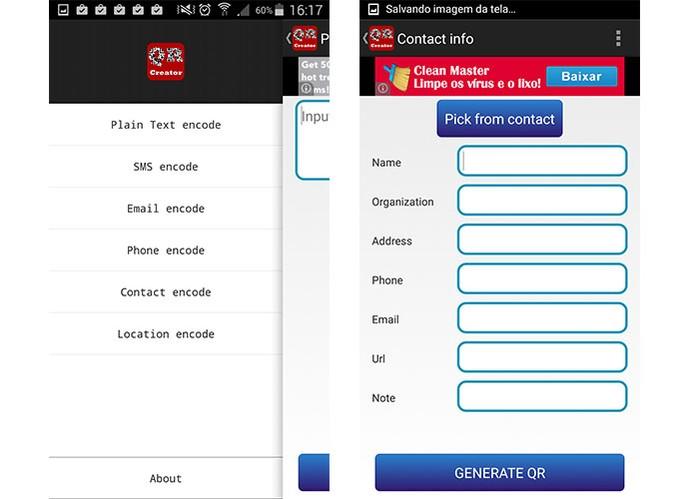 QR Code Creator pode ser usado em Android mais antigo a partir da versão 2.3 (Foto: Reprodu