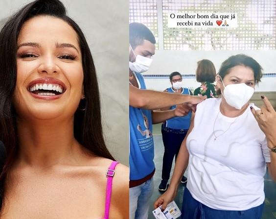 Juliette Freire mostrou a mãe se vacinando (Foto: Reprodução)