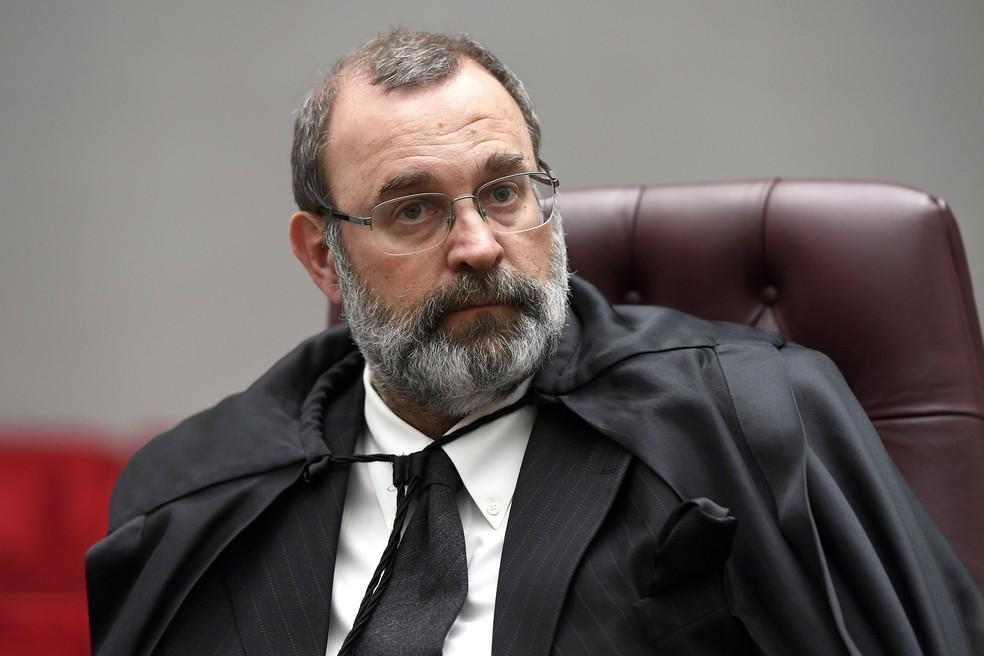 O ministro Sebastião Reis Júnior durante sessão do Superior Tribunal de Justiça — Foto: Sergio Amaral/STJ