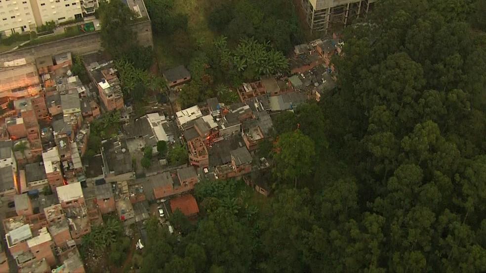 Paraisópolis fica na Zona Sul da cidade de São Paulo (Foto: Reprodução/TV Globo)