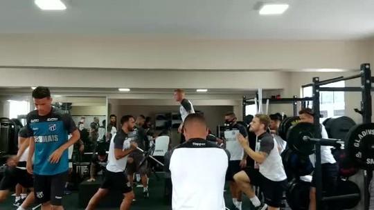 Ceará cancela treino e se prepara na academia para duelo com Avaí; confira provável escalação