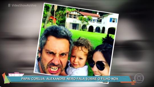 Alexandre Nero se derrete pelo filho Noá e comenta paternidade: 'Principal função da minha vida'