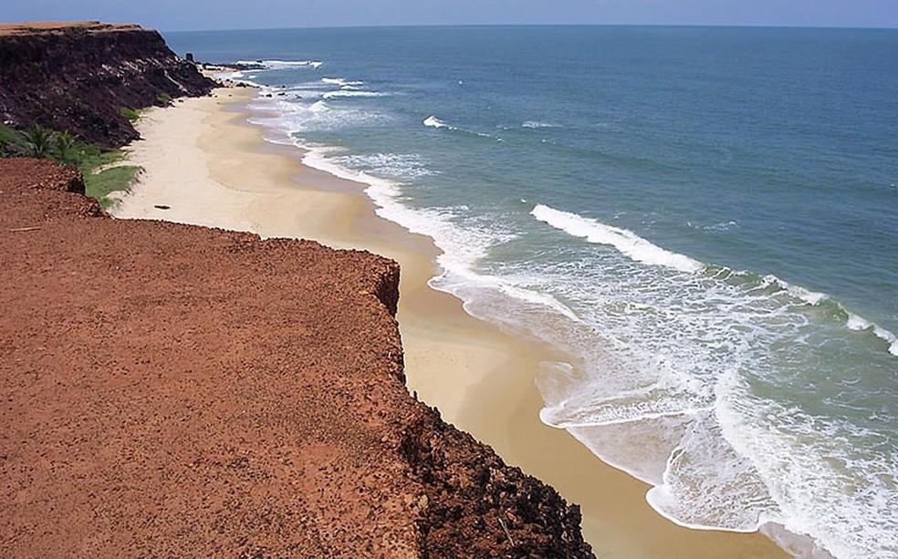 Falésias da praia da Pipa (Foto: Canindé Soares)
