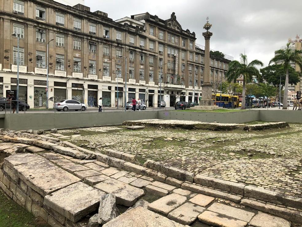 Cais do Valongo, reconhecido como Patrimônio Mundial pela Unesco, foi porta de entrada de escravos no continente americano — Foto: Carlos Brito / G1
