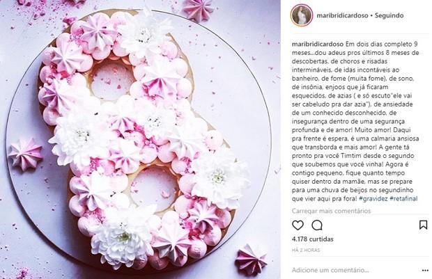 Mariana Bridi fala da segunda gravidez na web (Foto: Reprodução/Instagram)