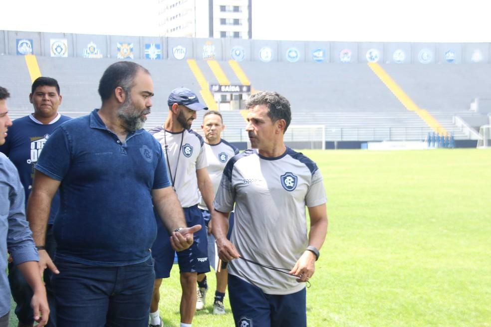 Fábio Bentes e Eudes Pedro devem ter reunião na sexta-feira — Foto: Igor Mota/O Liberal
