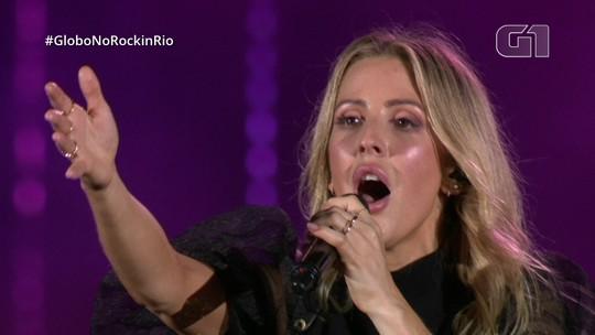 Ellie Goulding se esforça, mas faz show morno como substituta no Palco Mundo