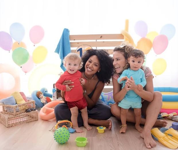 Sheron e Benjamin com Maíra Charken e Gael (Foto: Reprodução/Instagram)