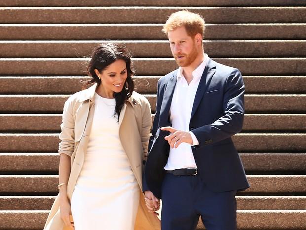 Príncipe Harry e Meghan Markle estão esperando o primeiro filho (Foto: Getty Images)