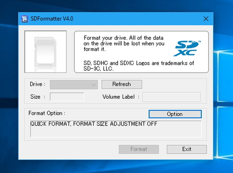 SD Card Formatter | Download | TechTudo