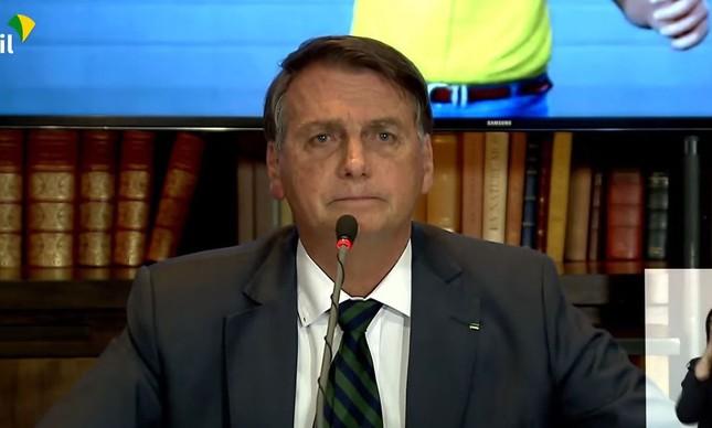 Jair Bolsonaro na live em que admitiu não ter prova de fraude na urna eletrônica