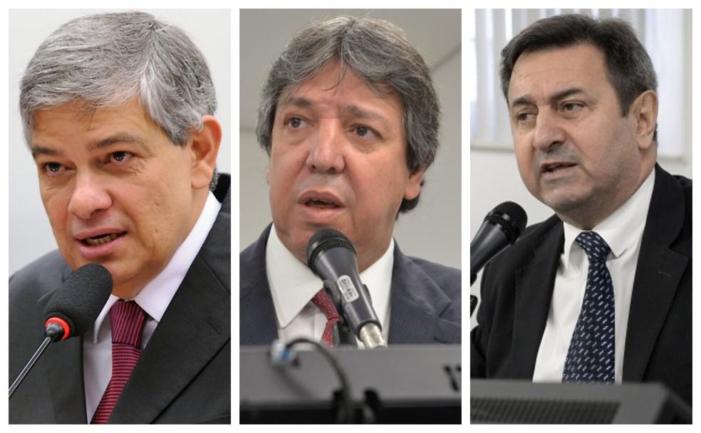 Marcus Pestana (esq), Isauro Calais (centro) e Antônio Jorge (dir) não conseguiram se reeleger — Foto: Câmara dos Deputados/Divulgação, ALMG/Divulgação