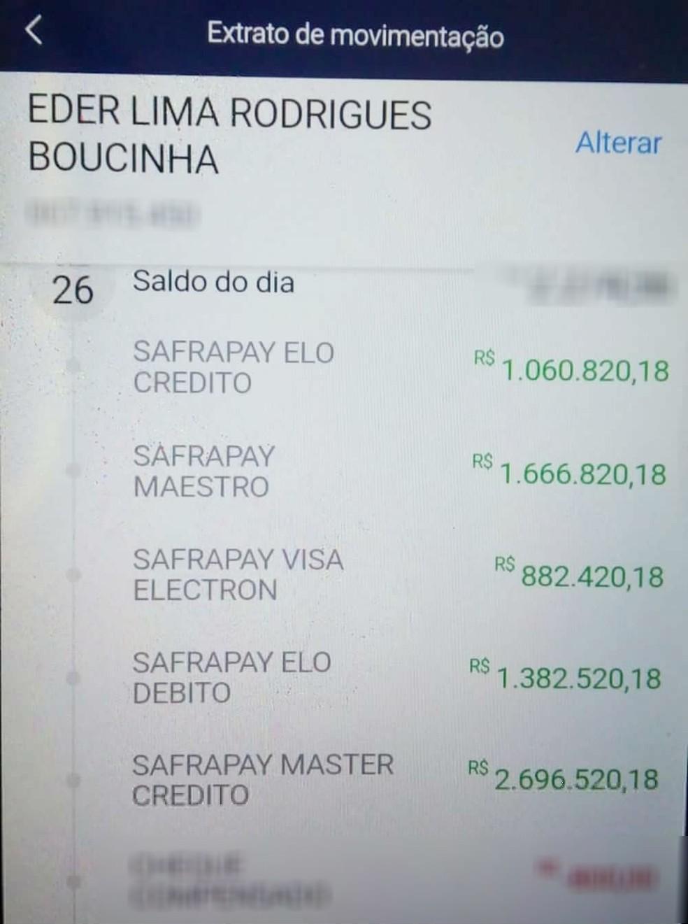 Administrador de Rio Preto (SP) teve R$ 8 milhões depositados na conta por engano — Foto: Arquivo pessoal