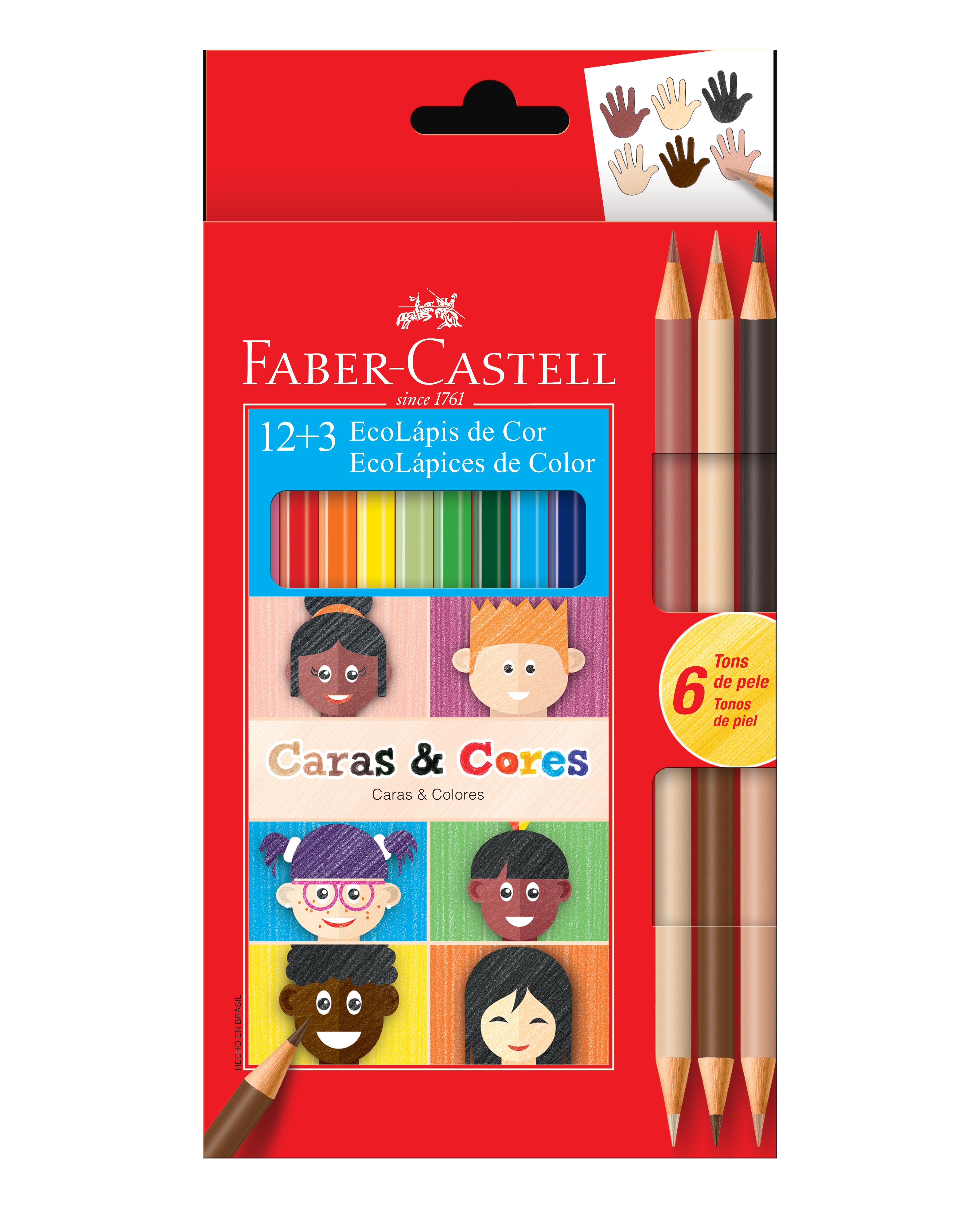 Lápis Caras & Cores em caixa de 12 cores da Ecolápis (Foto: Faber Castell/Divulgação)