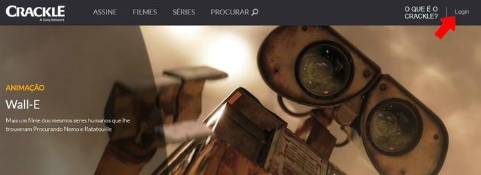 Faça login no Crackle (Foto: Reprodução/Rodrigo Fernandes)
