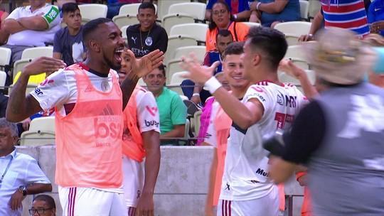Veja os gols de Fortaleza 1x2 Flamengo pelo Brasileirão