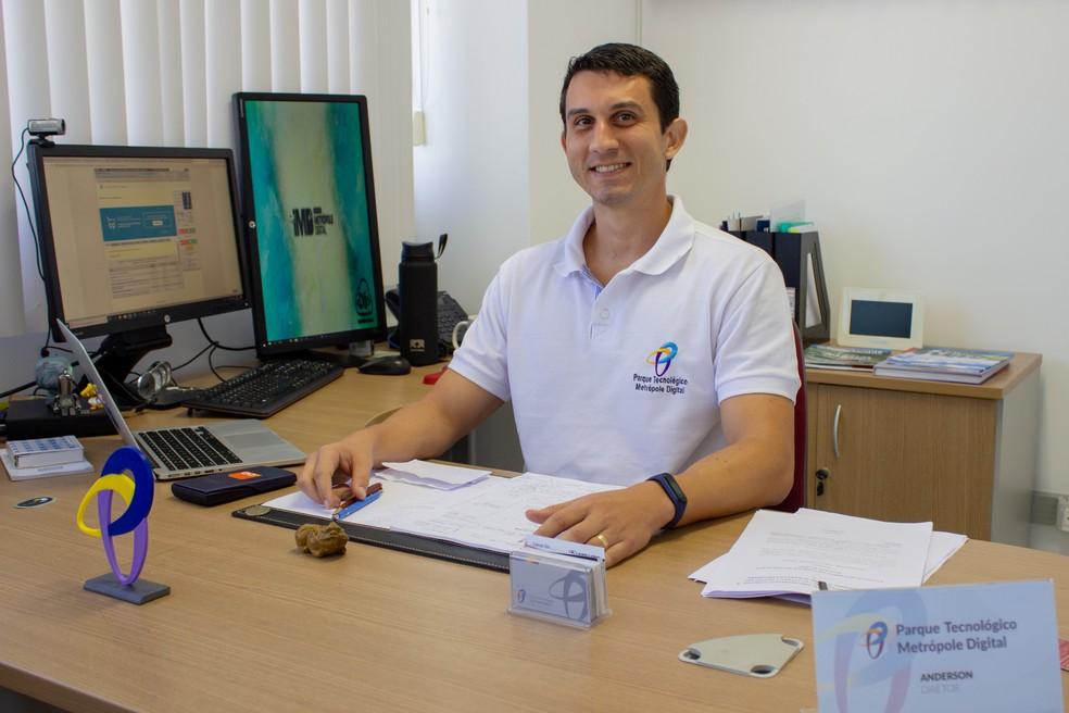 Anderson Cruz, diretor do Parque Tecnológico Metrópole Digital, em Natal. — Foto: Thércio Leite