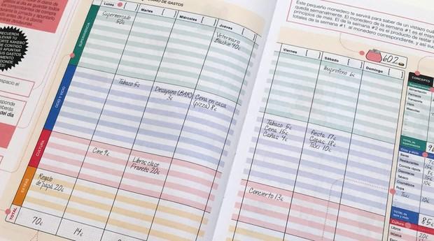 Um dos exemplos de cadernos de Kakebo (Foto: Divulgação)