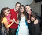Hana com os irmãos no seu aniversário de 15 anos | Arquivo pessoal