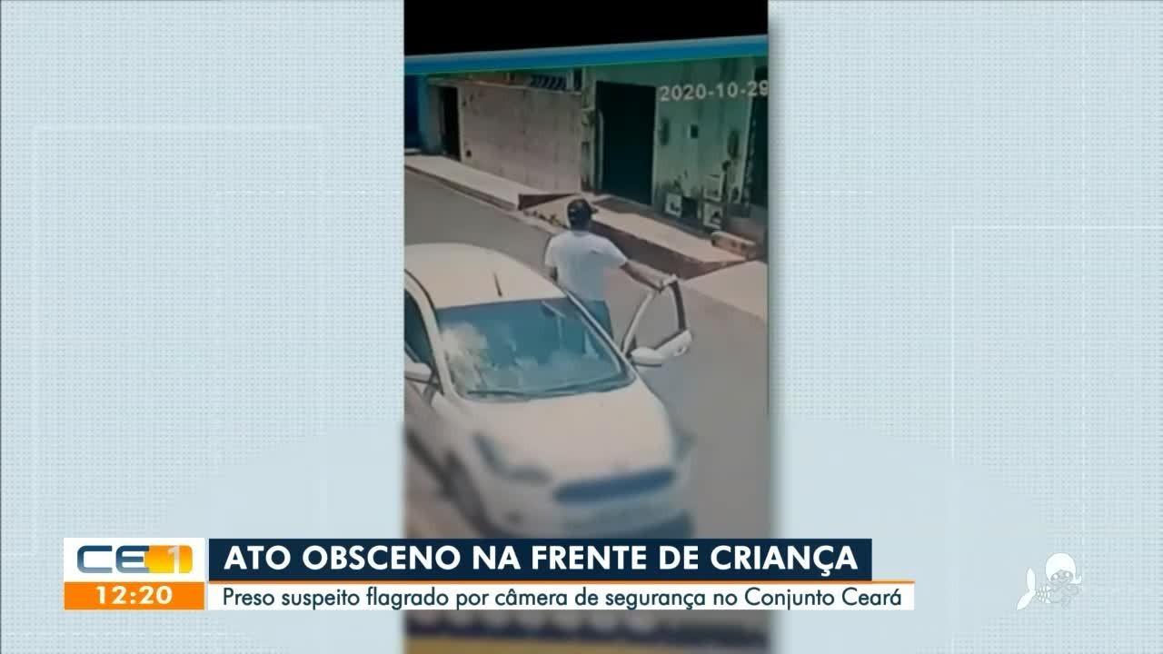 Homem é preso em flagrante por realizar ato obsceno em praça do Conjunto Ceará