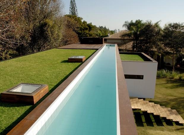 Exemplo de telhado verde, da Ecotelhado, dá conforto térmico e ainda pode ser aproveitado como área de lazer (Foto: Divulgação )