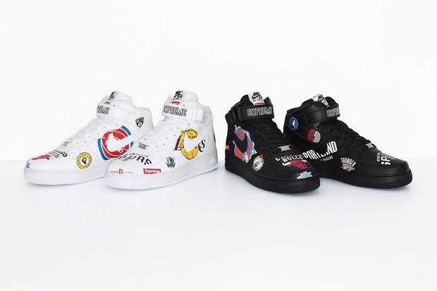 7be821784cc Os tênis mais cool do momento  Supreme x NBA x Nike Air Force 1 Mid