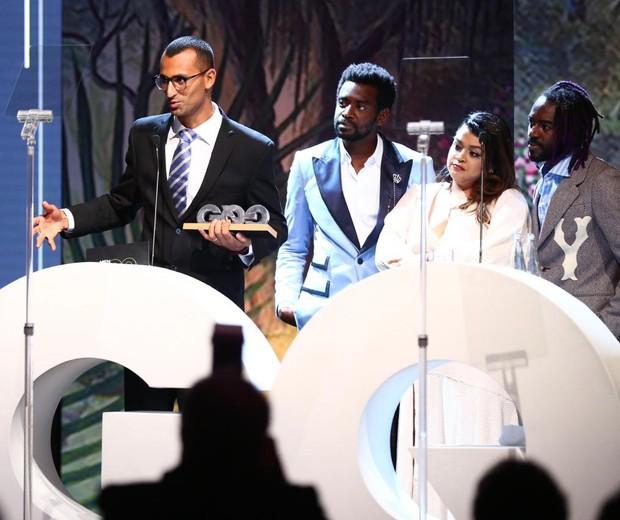 Edu Lyra recebe o MOTY na categoria Responsabilidade Social (Foto: Roberto Filho)