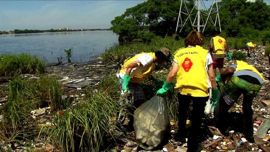 Instituto Ecofaxina faz limpeza nas áreas de mangue na Baixada Santista