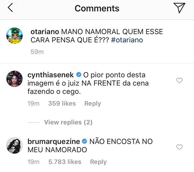 Bruna Marquezine comenta vídeo de Neymar sendo pisado (Foto: Reprodução/Instagram)