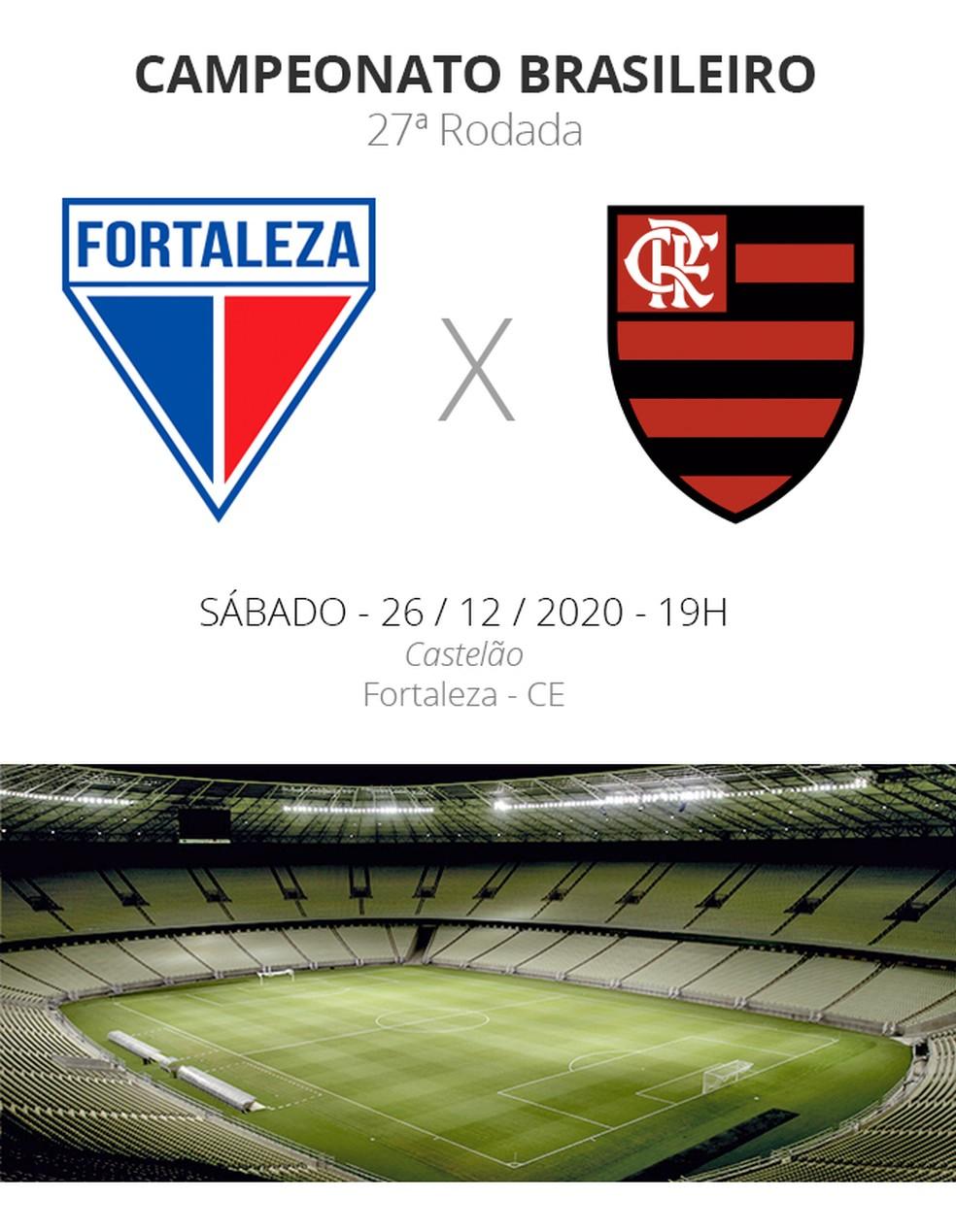 Fortaleza x Flamengo: veja onde assistir, escalações, desfalques e  arbitragem | brasileirão série a | ge
