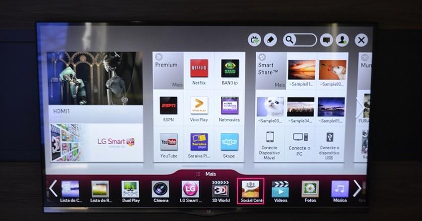 Como usar a função Smart Share das Smart TVs da LG?